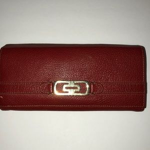 authentic Bvlgari wallet red